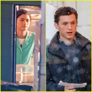 Zendaya & Tom Holland Film Scenes For 'Spider-Man 3' - See the Set Pics!