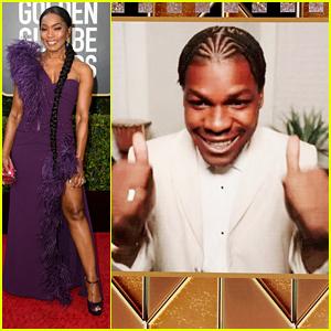 John Boyega Wins Best TV Movie Supporting Actor Presented By Angela Bassett at Golden Globes 2021