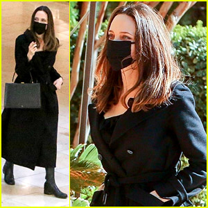 Angelina Jolie Goes Shopping at the Mall with Her Daughters
