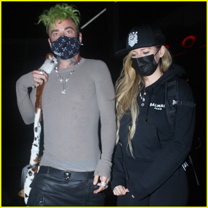 Avril Lavigne Meets Up with Mod Sun for Dinner in West Hollywood