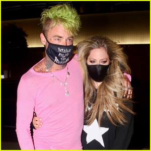 Avril Lavigne & Boyfriend Mod Sun Keep Close on Dinner Date in WeHo