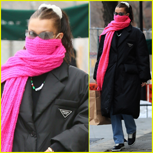 Bella Hadid Bundles Up for Lunch with Friends in NYC