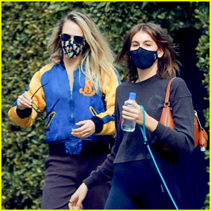 Cara Delevingne & Kaia Gerber Go to Another Pilates Class Together!