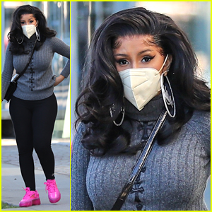 Cardi B Rocks Neon Pink Sneakers After Sharing Her Valentine's Day Rules