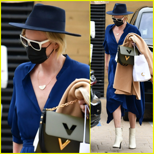Charlize Theron Steps Out in Style for Lunch at Nobu