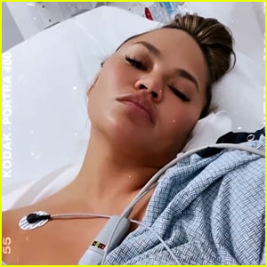 Chrissy Teigen Shares Photo From the Hospital As She's About to Undergo Surgery