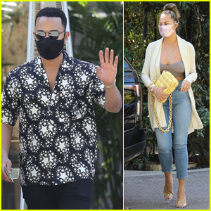 John Legend & Chrissy Teigen Head Out on Lunch Date in Bel-Air