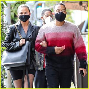 Chrissy Teigen & John Legend Get Lunch with Friends in Beverly Hills