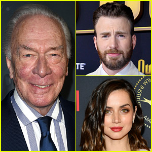 Christopher Plummer Remembered by 'Knives Out' Stars Chris Evans, Ana de Armas, & More
