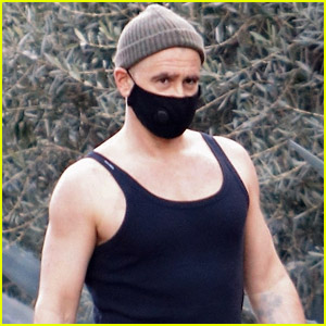 Colin Farrell Looks Buff in a Tank Top While Covering Up New Bald Head