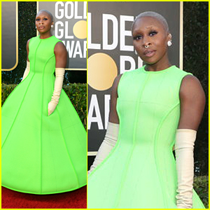 Cynthia Erivo Lights Up Golden Globes 2021 in Lime Green!