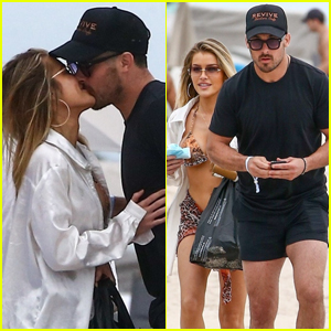 NFL Player Danny Amendola Packs On the PDA with Girlfriend Jean Watts at the Beach