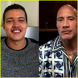 Dwayne Johnson Does Interview with Actor Playing His Teenage Self on 'Young Rock,' Bradley Constant!