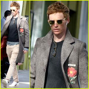 Eddie Redmayne Spotted During Break from Filming 'Fantastic Beasts 3'