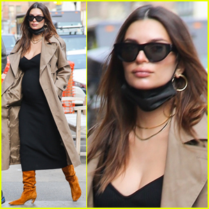 Pregnant Emily Ratajkowski Heads Out in NYC After Saying She's 'Bout to Pop'