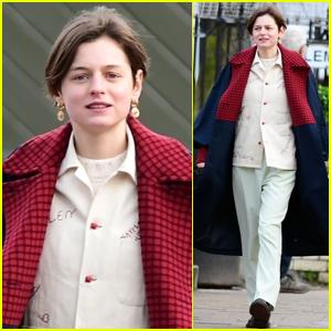 Emma Corrin Steps Out in London After Golden Globes & SAG Awards Nominations!