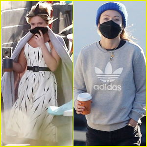Florence Pugh & Director Olivia Wilde Spend Another Day on Set of 'Don't Worry Darling'