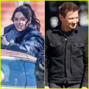 Hailee Steinfeld & Jeremy Renner Continue Filming 'Hawkeye' in Atlanta