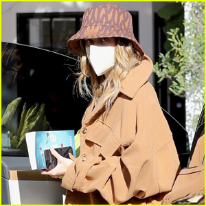 Hailey Bieber Wears Ivy Park Bucket Hat While Out in Beverly Hills