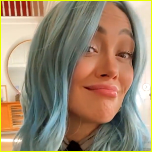 Hilary Duff Just Dyed Her Hair Blue, But Swears It's Not A Hint At Her Baby's Gender
