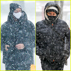 Hugh Jackman Gets Caught in the Middle of NYC Snow Storm with Wife Deborra-Lee Furness