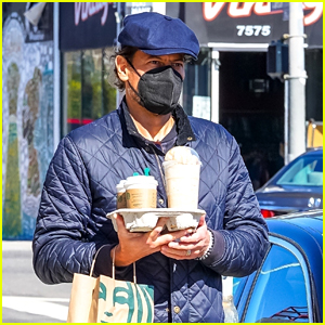Ioan Gruffudd Wears His Wedding Ring While Picking Up Starbucks On His Way To Visit Estranged Wife Alice Evans