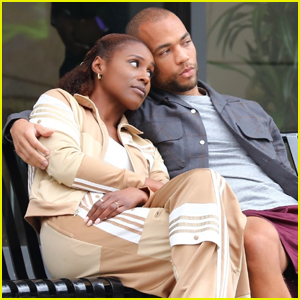 Issa Rae Cozies Up to Kendrick Sampson While Filming Fifth & Final Season of 'Insecure'
