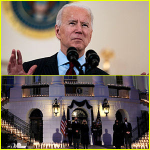 President Biden Holds Candlelight Vigil at White House to Mourn the 500,000 American Lives Lost to COVID-19