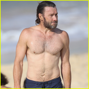 Joel Edgerton Shows Off Fit Shirtless Body While at the Beach in Sydney