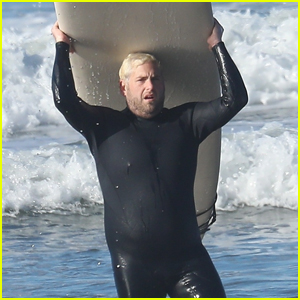 Jonah Hill Shows Off New Platinum Blond Hair During a Surf Session in Malibu