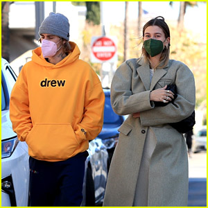 Justin Bieber & Wife Hailey Bundle Up for Saturday Morning Breakfast Date