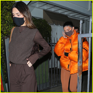 Sisters Kendall & Kylie Jenner Step Out For Dinner Together in LA