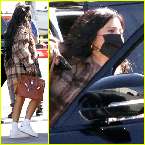 Kylie Jenner Boards A Private Plane For Weekend Getaway