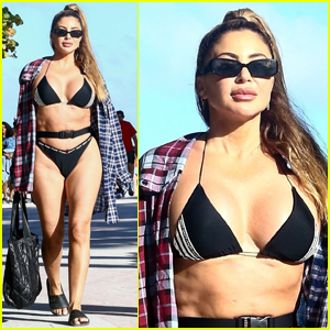 Larsa Pippen Bares Rockin' Body in Black Bikini for Day at the Beach