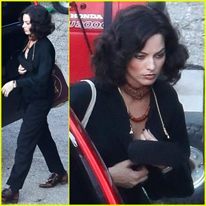 Margot Robbie Sports Dark Hair While Filming New David O. Russell Movie