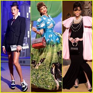 The Moschino Fashion Show Had So Many Top Models on the Runway, Including Hailey Bieber, Miranda Kerr, & Winnie Harlow!