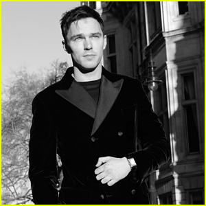 Nicholas Hoult Goes Black & White For Golden Globes 2021