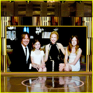 Nicole Kidman Gets Support From Young Daughters at Golden Globes 2021!