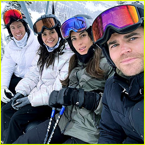 Nina Dobrev & Paul Wesley Reunite for a Snowy Double Date!