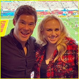 Pitch Perfect's Rebel Wilson & Adam Devine Met Up at Super Bowl 2021
