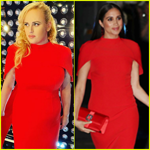 Rebel Wilson Wears the Same Red Gown Worn by Meghan Markle!