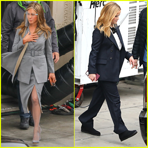 Jennifer Aniston & Reese Witherspoon Get Back To Work on 'The Morning Show' in LA