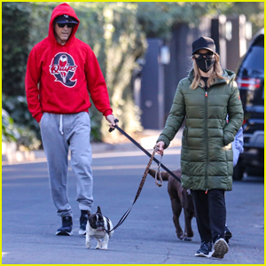 Reese Witherspoon & Husband Jim Toth Head Out on Morning Walk with Their Dogs