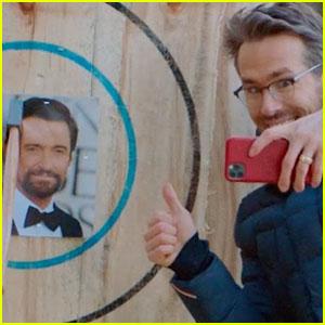 Ryan Reynolds Uses Hugh Jackman's Face as Target Practice While Axe Throwing