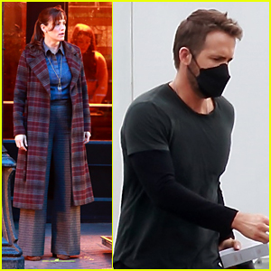 Jennifer Garner Wears A Plaid Coat While Filming 'The Adam Project' With Ryan Reynolds in Vancouver