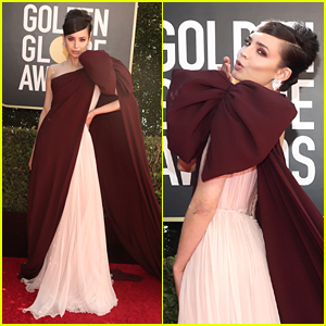Sofia Carson Goes Pink For Golden Globes 2021