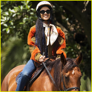 Tessa Thompson is All Smiles During Horseback Riding Lesson!