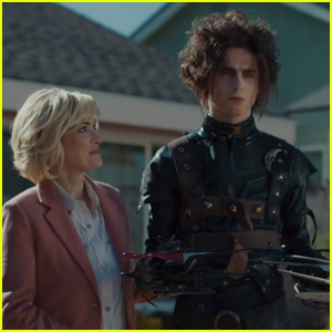 Timothee Chalamet Is Edward Scissorhands' Son Edgar in Cadillac Super Bowl Ad With Winona Ryder!