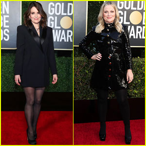 Tina Fey & Amy Poehler, Golden Globes 2021 Hosts, Arrive for the Big Show!