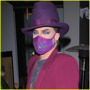 Adam Lambert Channels Boy George While Out to Dinner in West Hollywood